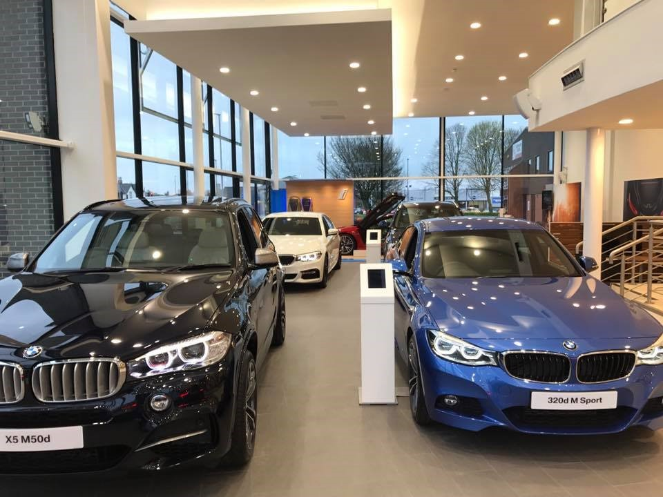 Carlisle BMW new car display.