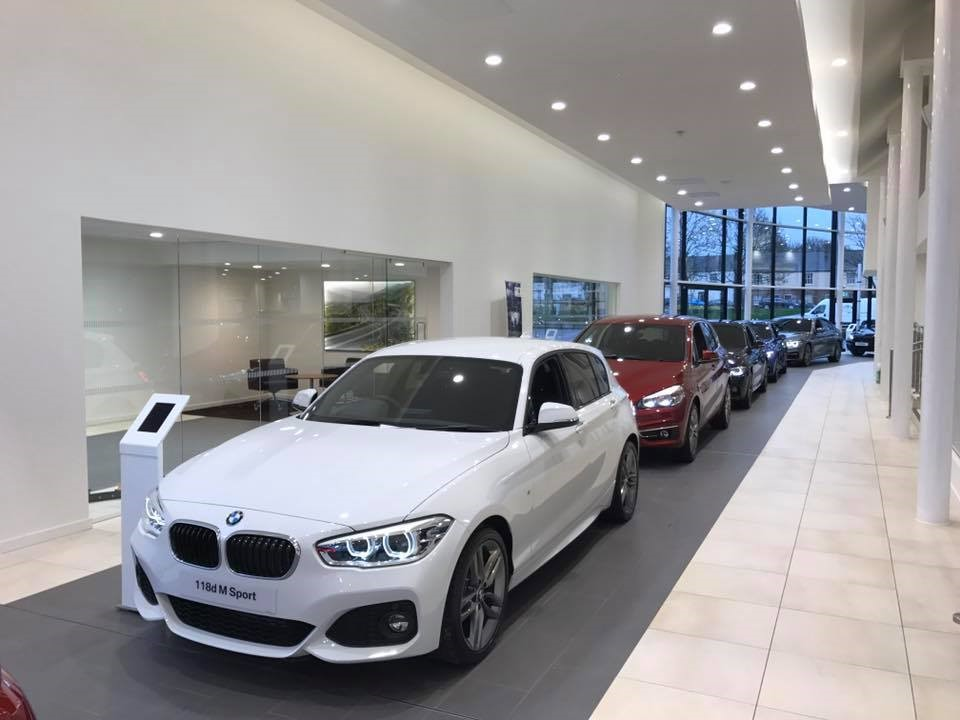 Carlisle BMW new car rolling road.