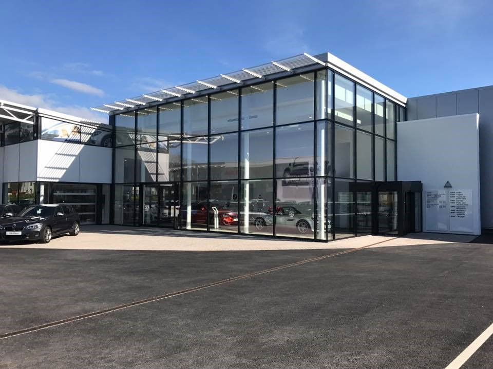 Carlisle BMW new customer entrance.