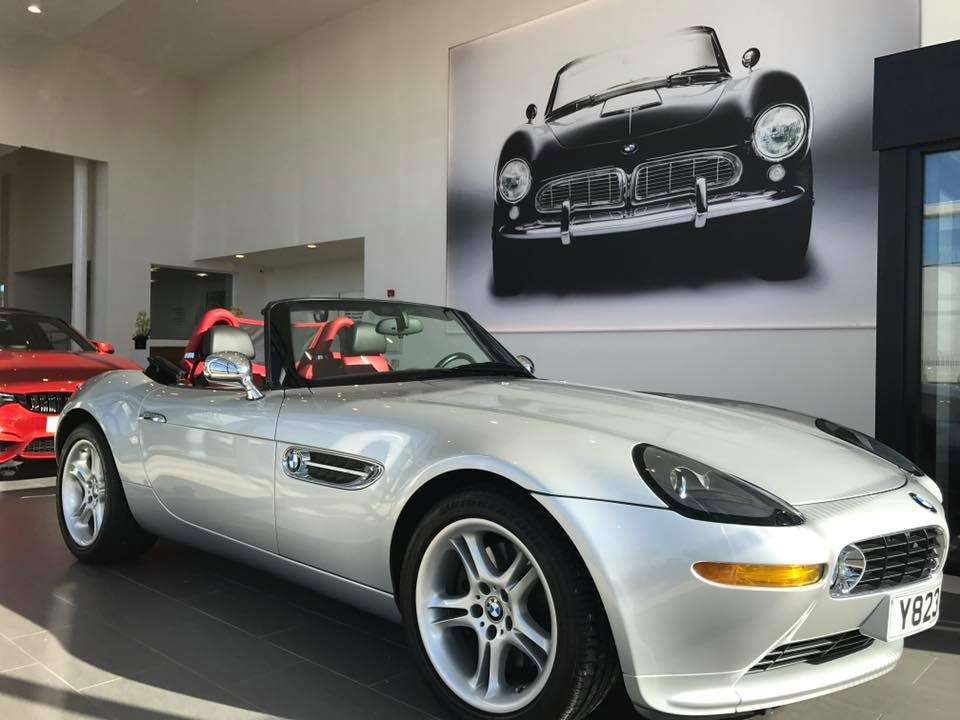 Carlisle BMW reception area featuring the BMW Z8.