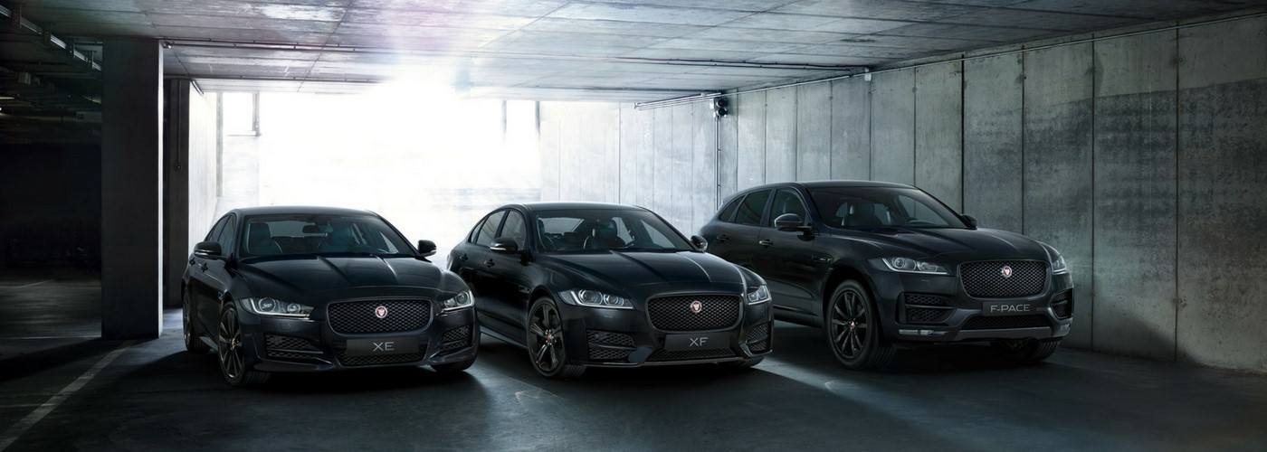 The limited Black Edition Jaguar  Available on Jaguar R-Sport XE, XF, XF-Sportbrake and F-PACE