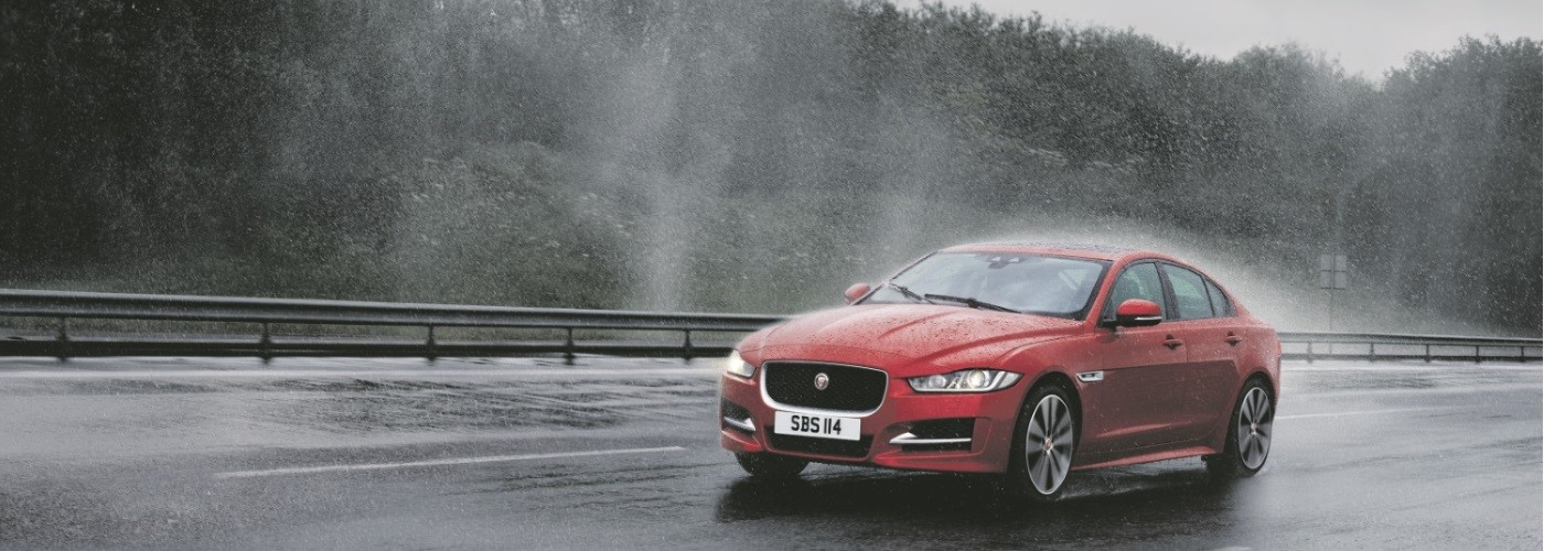 Jaguar XE All weather. All surfaces. All wheel drive.