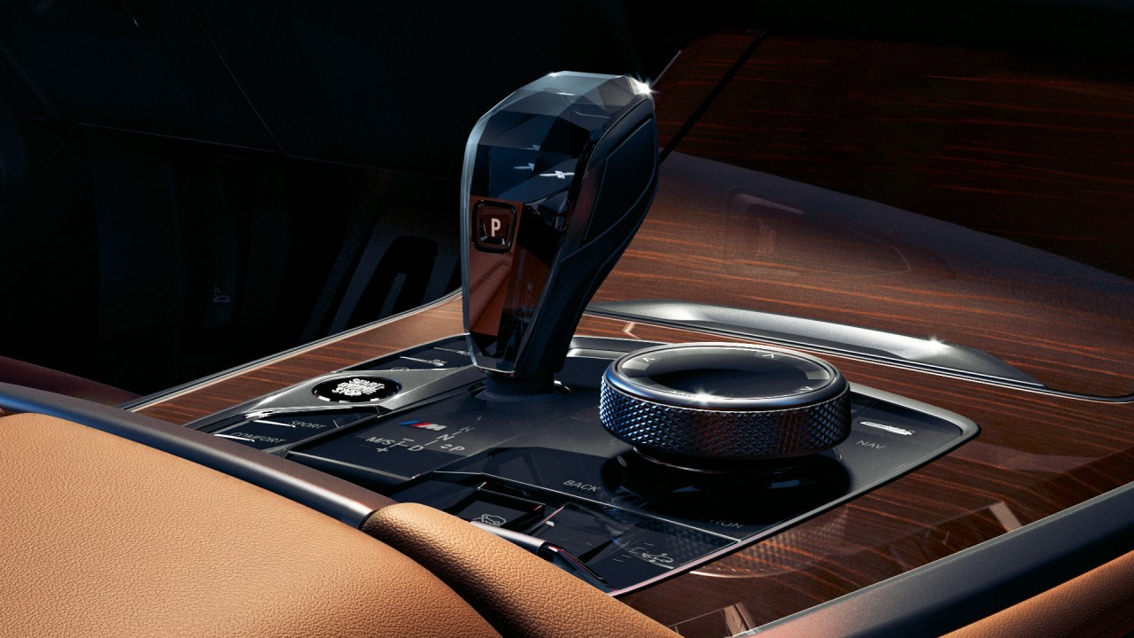 Add a touch of decadence to your experience with a precious crystal gear lever, which also features mood lighting.