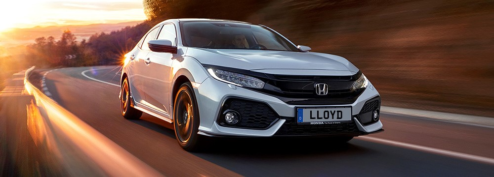The new Honda Civic front