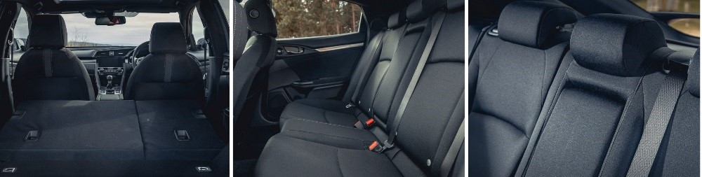 New honda civic split folding seats and boot space