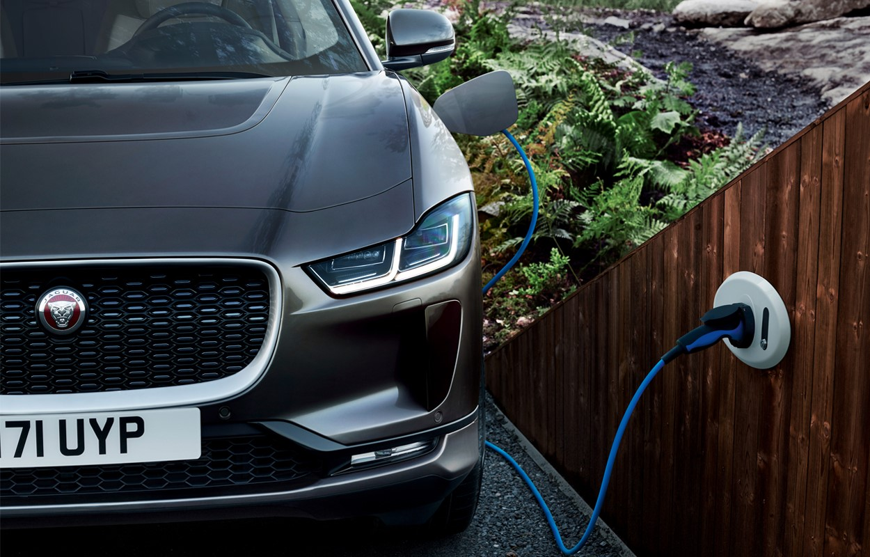 IPACE Exterior charging new car
