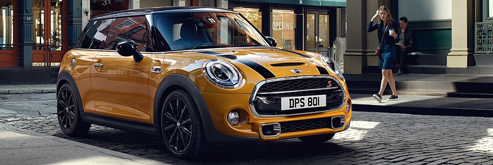 The MINI 3 Door Hatch in Volcanic Orange