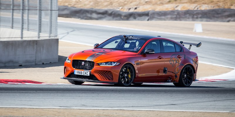 Jaguar's supercar-rivalling XE SV Project 8 has confirmed its status as the world's fastest four-door car by setting a new track record.
