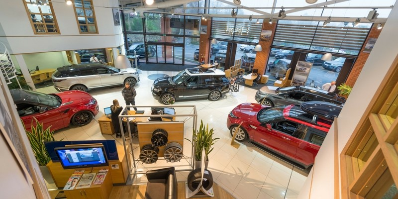 Lloyd Land Rover Ripon showroom cars