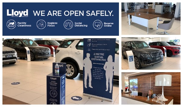 lloyd land rover, open retailers, covid safe