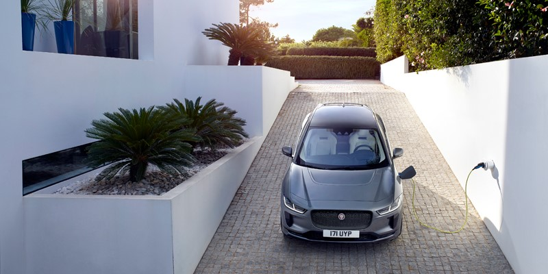 jaguar, electric, i, pace, home, charging, plug, overnight