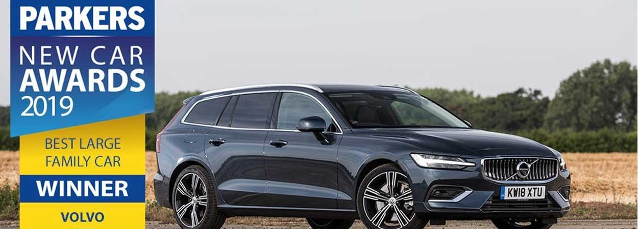 Volvo V60 wins Best Large Family Car at Parkers Awards