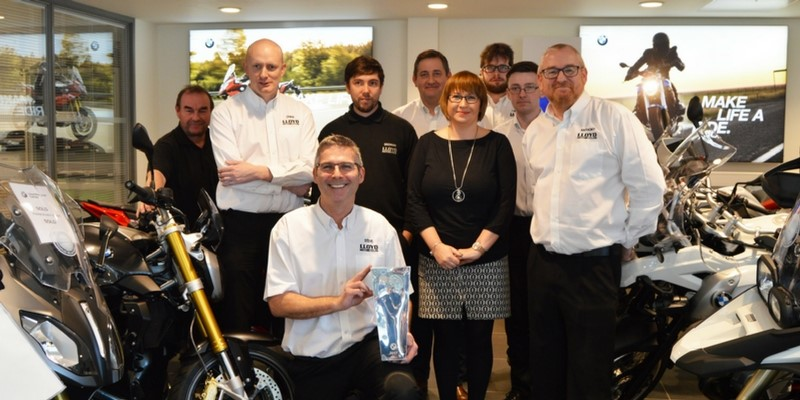 Lloyd Bikes team celebrate winning award