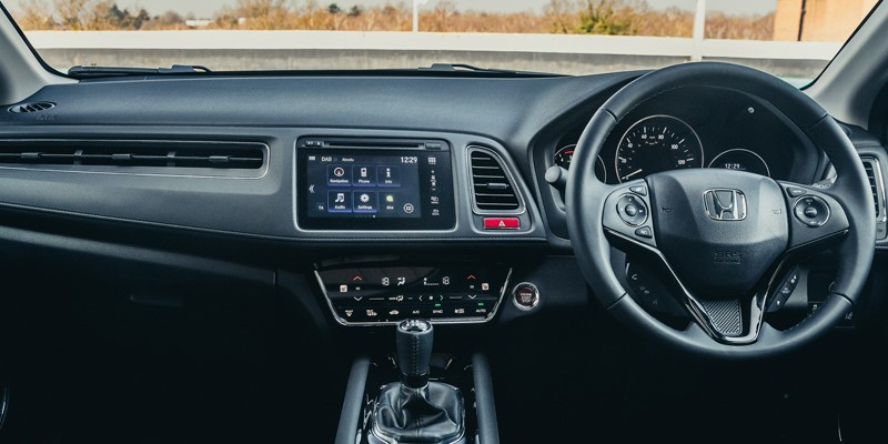 The New Honda HR-V interior including dashboard and steering wheel
