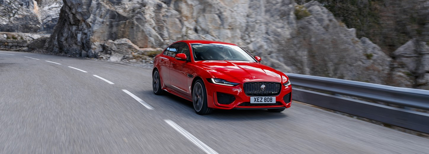 the, new, jaguar, xe, sports, saloon, car