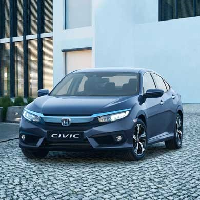 The New Honda Civic 4 Door in Grey