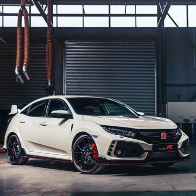 New Honda Cars For Sale, picture of a white honda civic type R
