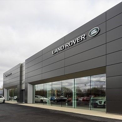 Outside of Land Rover retailer location